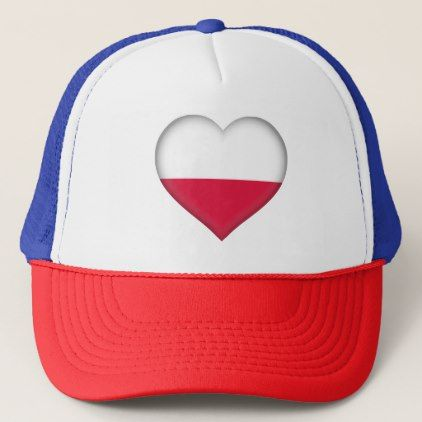 #Poland Flag Trucker Hat - #country gifts style diy gift ideas