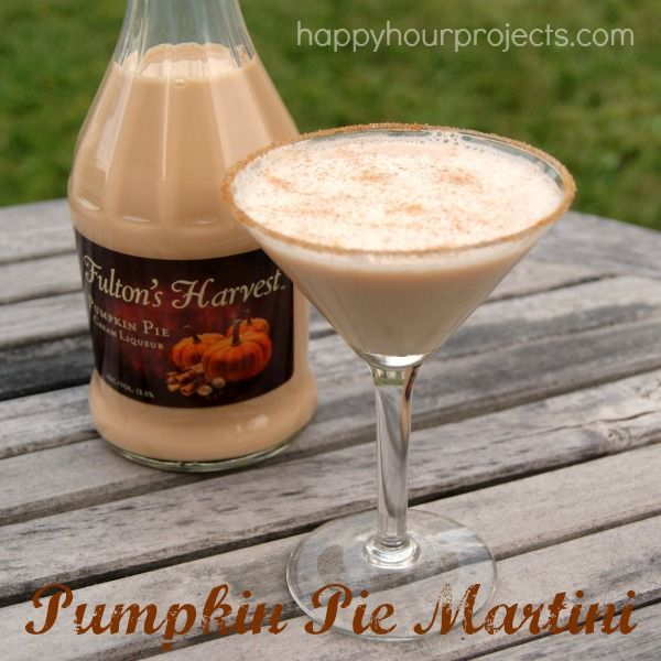 1.5 oz. Whipped Cream Vodka, 1 oz. Fulton's Harvest Pumpkin Pie Liqueur, .5 oz. Rum Chata (or other cream liqueur), Cinnamon Sugar