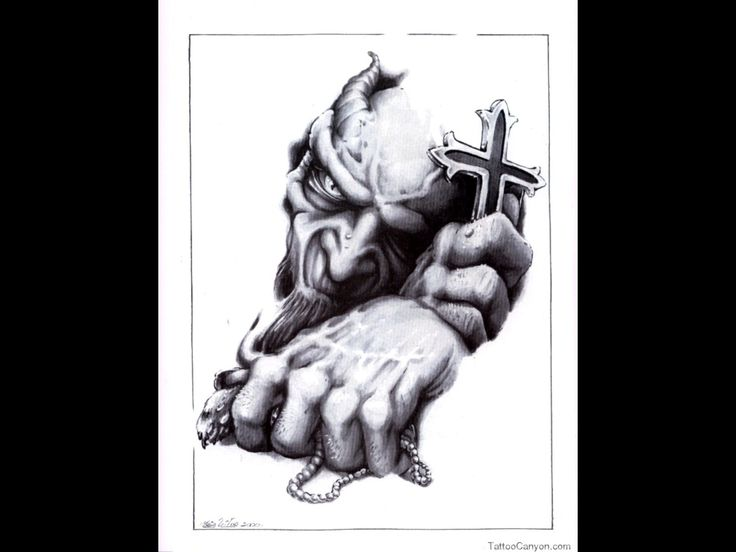 -adn-demon-tattoo-design-img86-skulls-demons-flash-tatto-sets--tattoo ...