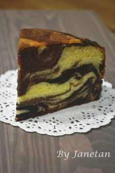 Jane的烘焙记: 大理石纹牛油蛋糕 / Marble Butter Cake