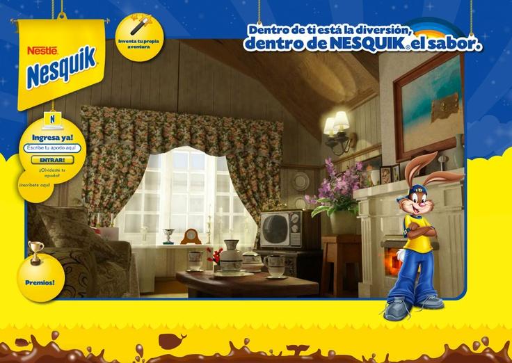 Con Nesquik, las cosas son mucho más divertidas de lo que los adultos creemos, por eso creamos para los niños una visita virtual a la casa de la abuela desde la perspectiva de Nesquik. www.nesquik.com.co