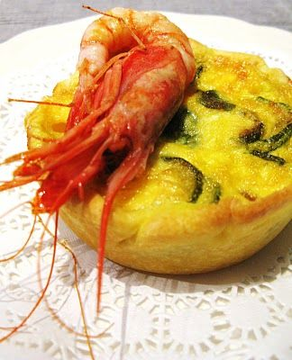 Quiches gamberi e zucchine al prufumo di curry