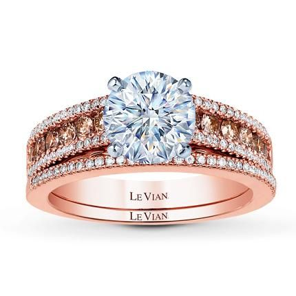 This Sophisticated Engagement Ring Setting From The Le VianR BridalTM Collection Features A Row