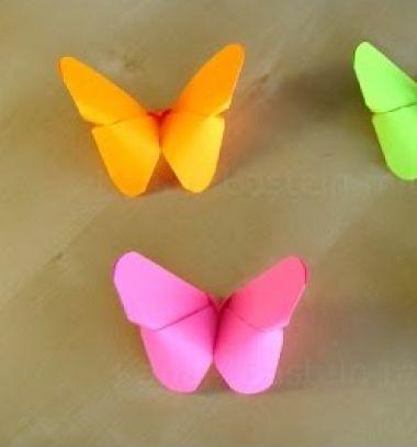 Easy origami butterflies - spring decor with paper folding // Lepkék papírhajtogatással egyszerűen -  origami pillangók // Mindy - craft tutorial collection