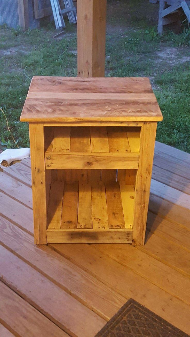 25 Best Ideas About Pallet Night Stands On Pinterest Refinishing Wood Tables Wooden Storage