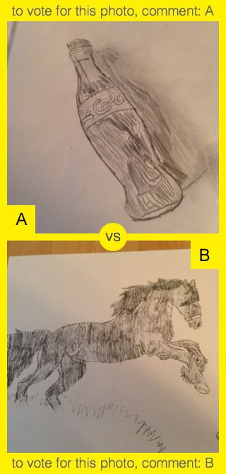A or B? To vote for top photo comment A, to vote for bottom photo comment B. See results at http://swingvoteapp.com/#!polls/5384. Click here http://swingvoteapp.mobi/ to install Swingvote mobile app and create your own polls.