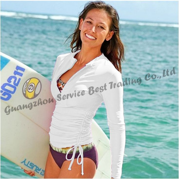 UPF 50+ Lycra Wetsuit Surf Women Diving Suit Swimwear Rash Guard Rashguard Shirt body suit  for Snorkeling Surfing Windsurfing US $30.26