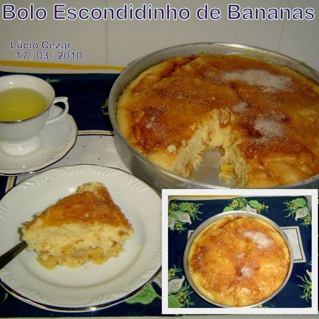 8 bananas prata  - 2 xícaras de açúcar (1 será usada na massa do bolo e outra misturada a canela em pó)  - 3 xícaras de trigo  - 3 colheres de sopa de manteiga (temperatura ambiente )  - 1 1/2 xícaras de leite  - 3 ovos  - 1 colher de sopa de canela em pó  - 1 colher de sopa bem cheia de pó royal (colocado apenas no final)  -