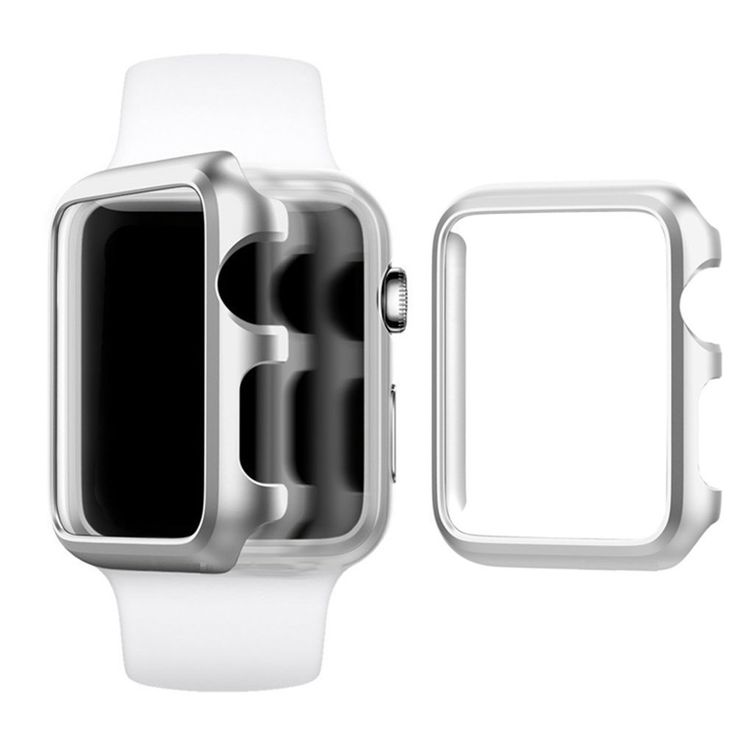 Apple Watch Case 38mm, Imymax Hard Aluminum Plated Protective Bumper Shell Cover Cases for Apple iWatch Sport / Edition - Silver. Apple Watch Case, designed specifically for Apple Watch / Sport / Edition 2015 all Release 38mm. Made of top quality aluminum alloy material, sturdy and lightweight. Precise cutouts, access to all controls, buttons, sensors, easily to install or remove, just snap on to your device. Protects your new iwatch against dust, dirt, bumps, scratches and damage. Warm...
