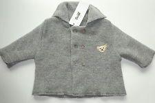 STEIFF Newborn Strickjacke Jacke Wolljacke Weste Cardigan Größe 56 Grau NEU M