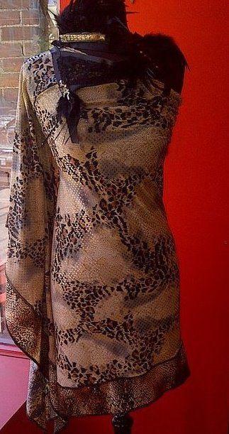 Snake skin dress