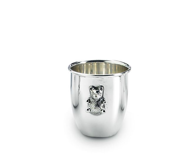 Baby tumbler with bear decoration #Sterlingsilver #Silverplated #Schiavon