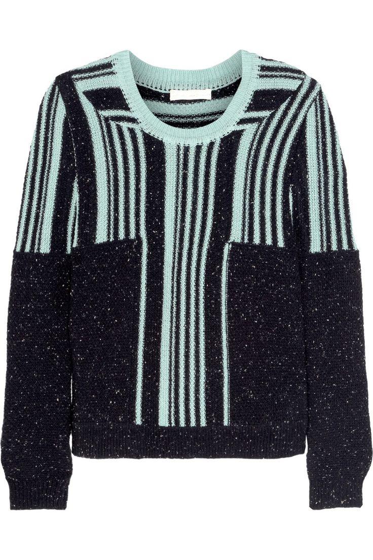 Michael van der Ham Paneled wool and cashmere-blend sweater NET-A-PORTER.COM