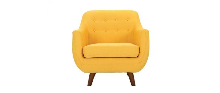 Fauteuil design jaune YNOK // 249€