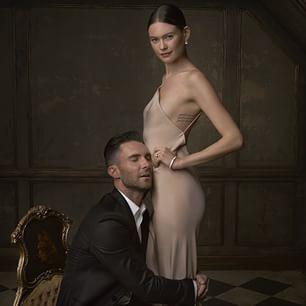 Adam Levine & Behati Prinsloo: | 16 Stunning Portraits From The Vanity Fair Oscar Party