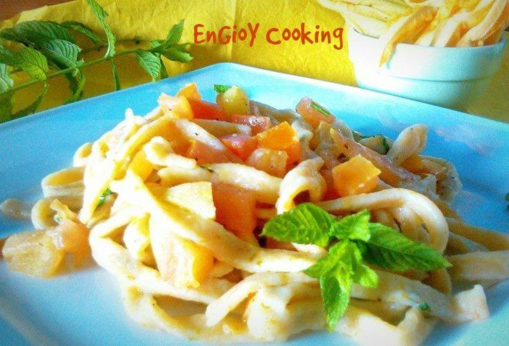 Tagliolini con dadolata di pomodoro | EnGioY Cooking