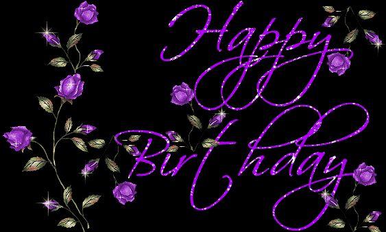 Happy Birthday Flower Images | happy_birthday_glitter_flowers.gif