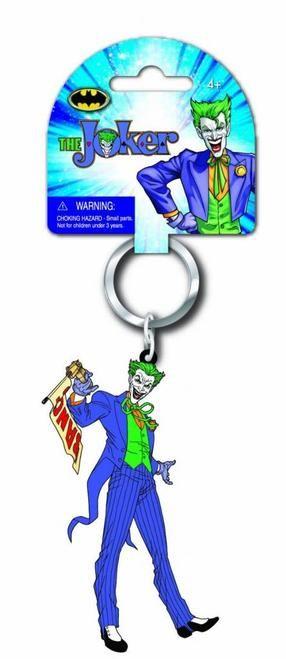 The Joker Batman Laser Cut Rubber Keychain