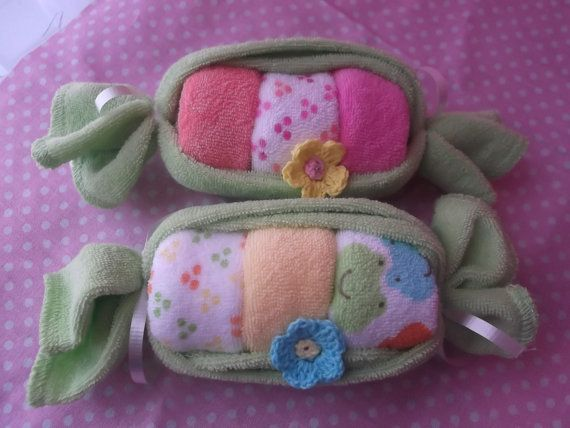 Peapod Baby Shower Favor Baby Washcloth by KKsCupcakeCreations, $7.75