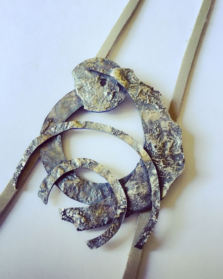 Colgante de plata reticula