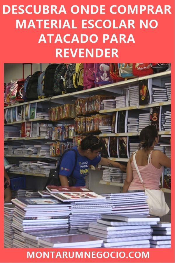 Confira onde comprar material escolar no atacado para revender. São vários  fornecedores de produtos escolares 79d57074f6c