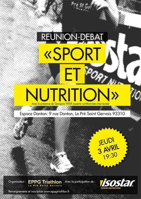 """Affiche """"Sport et Nutrition"""" - EPPG Triathlon"""
