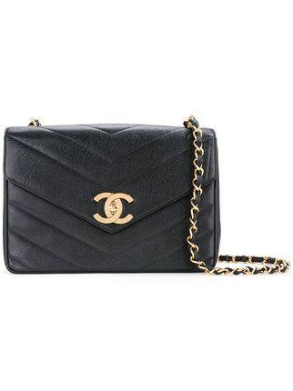 bae4e0d733eabe Chanel Vintage chevron CC shoulder bag | Bags i 2019 | Vintage ...