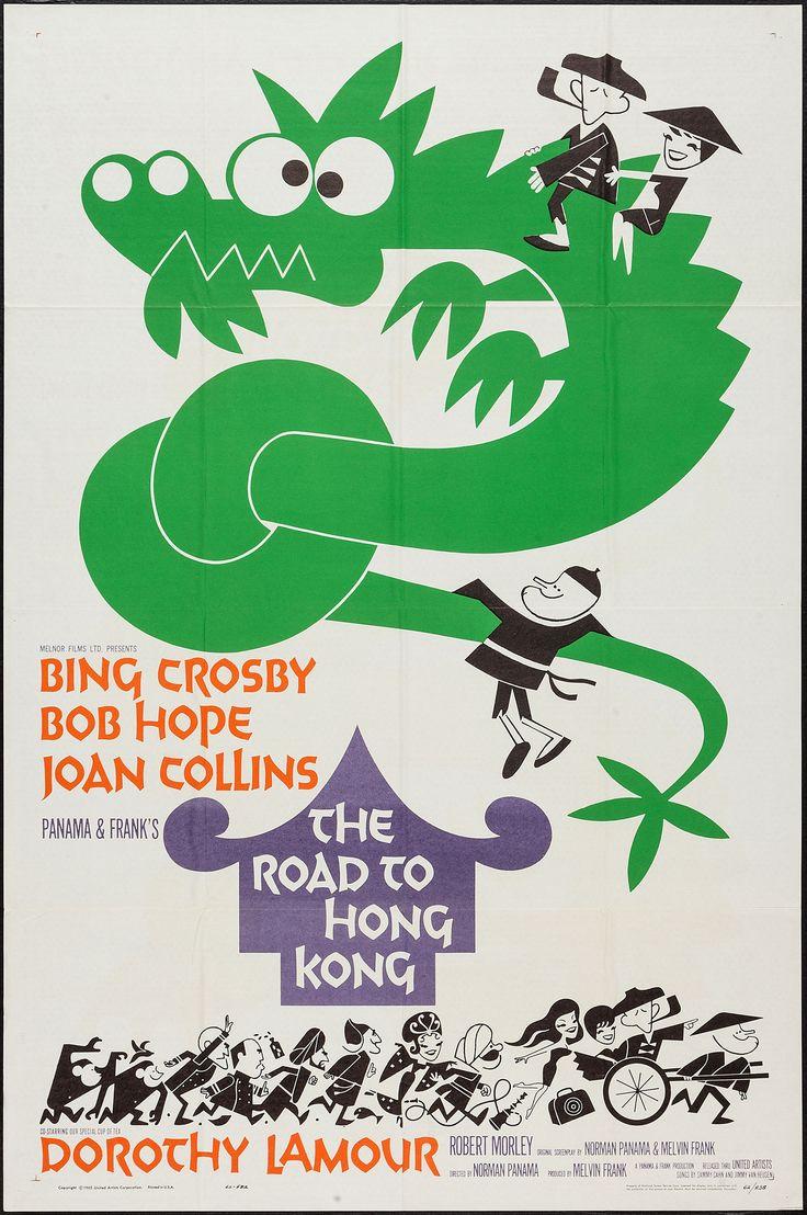 Poster design hong kong - The Road To Hong Kong 1962 Stars Bing Crosby Bob Hope