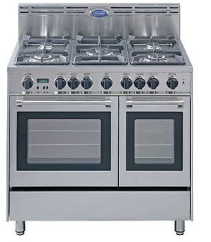 delonghi 36 in double oven gas range