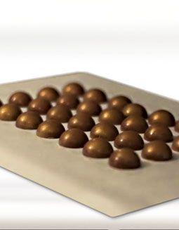 Callebaut - Gouden koepel Op deze site staan een aantal geweldige recepten voor gemouleerde en gedompelde bonbons..