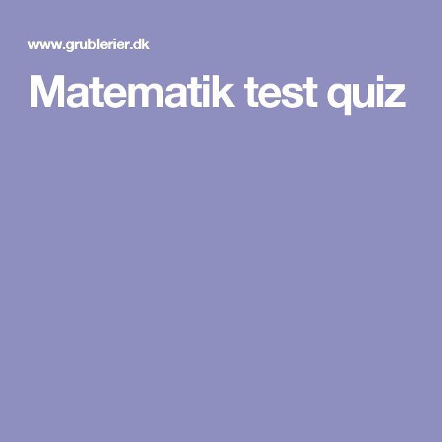 Matematik test quiz