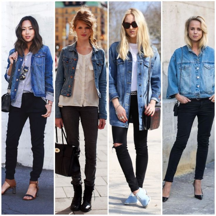 Jaqueta jeans calca preta