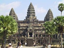 Angkor Wat in Cambodia is the largest Hindu/Buddhist temple in the world