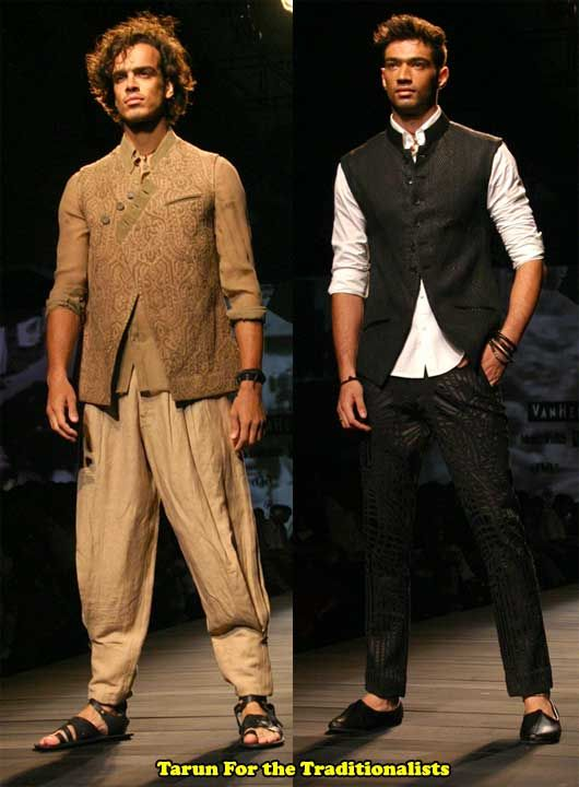 .love the vest and kurta combination (the one on the right)