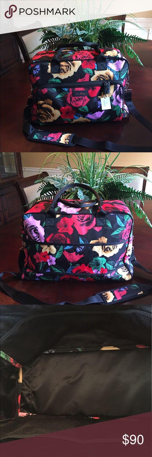 NWT Vera Bradley Havana Rose Weekender 2017 NWT Vera Bradley Havana Rose Weekender Bag 2017 Summer Pattern Vera Bradley Weekender Vera Bradley Bags Travel Bags