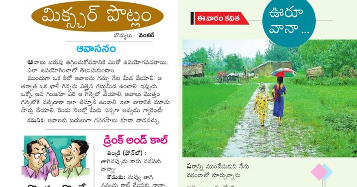 Clipping of Andhra Jyothy Telugu Daily - Sunday