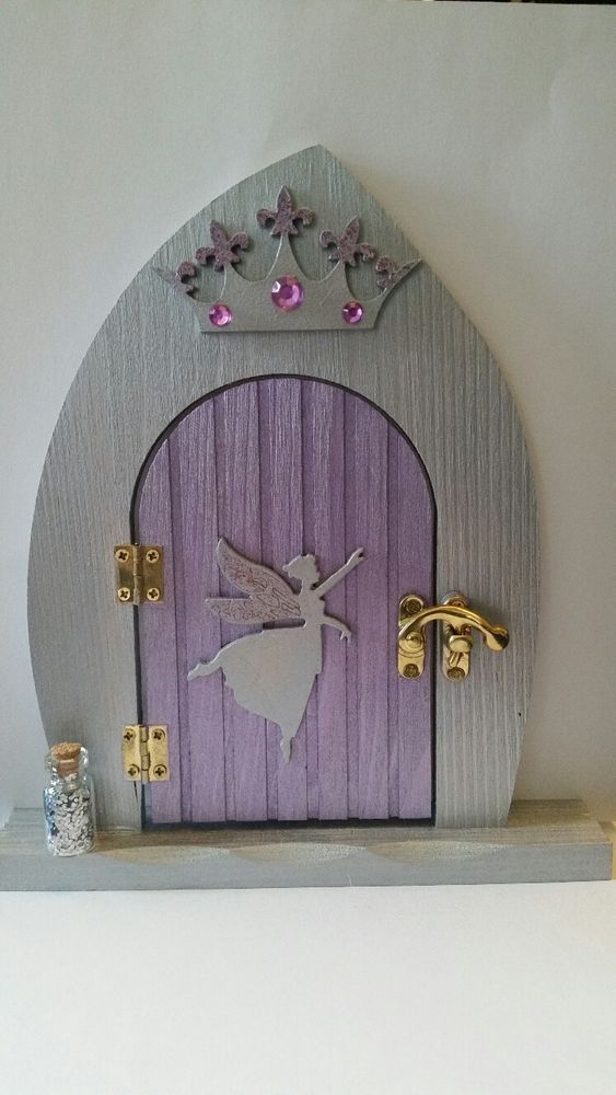 Hand Painted hinge door with catch and Fairy Dust. | eBay!