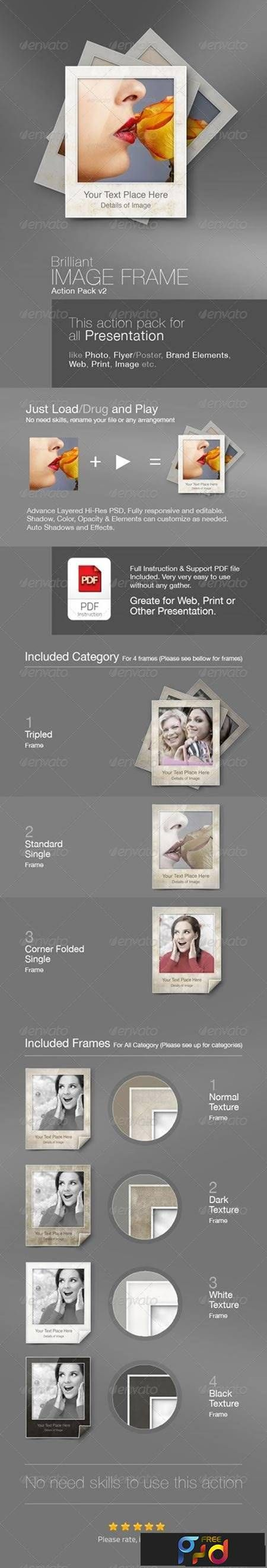 The 128 best Free PSD - Free Photoshop Action images on Pinterest ...