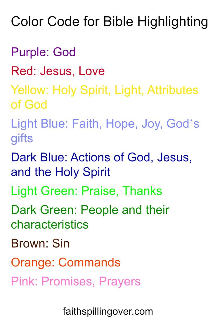 Color Code for Bible Highlighting