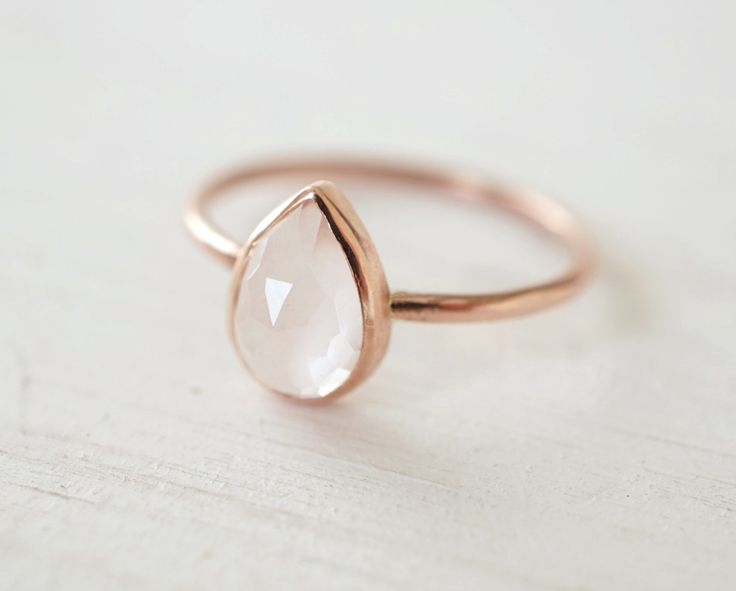 A personal favorite from my Etsy shop https://www.etsy.com/ca/listing/280059094/rose-quartz-ring-teardrop-ring