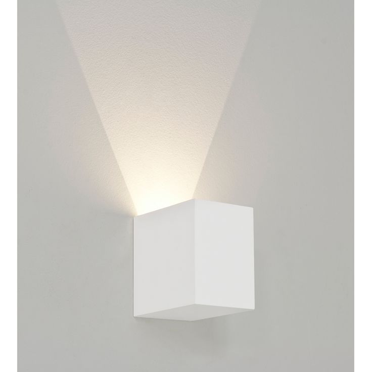 Quaderförmige LED-Wandleuchte aus Gips / LED-Wandfluter PARMA 100