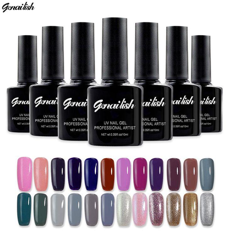168 Colors Gel Nail Polish UV Gel Polish Long-lasting Soak-off LED UV Gel Color Nail Gel 10ml/Pcs Nail Art Tools genailish-GB55