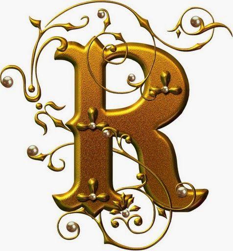 Letras douradas com pérolas - abc alfabeto dourado com pérolas lindo