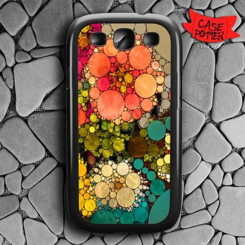 Pattern Round Full Color Samsung Galaxy S3 Black Case
