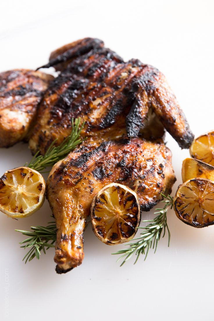 Grilled Lemon and Rosemary Flattened Chicken