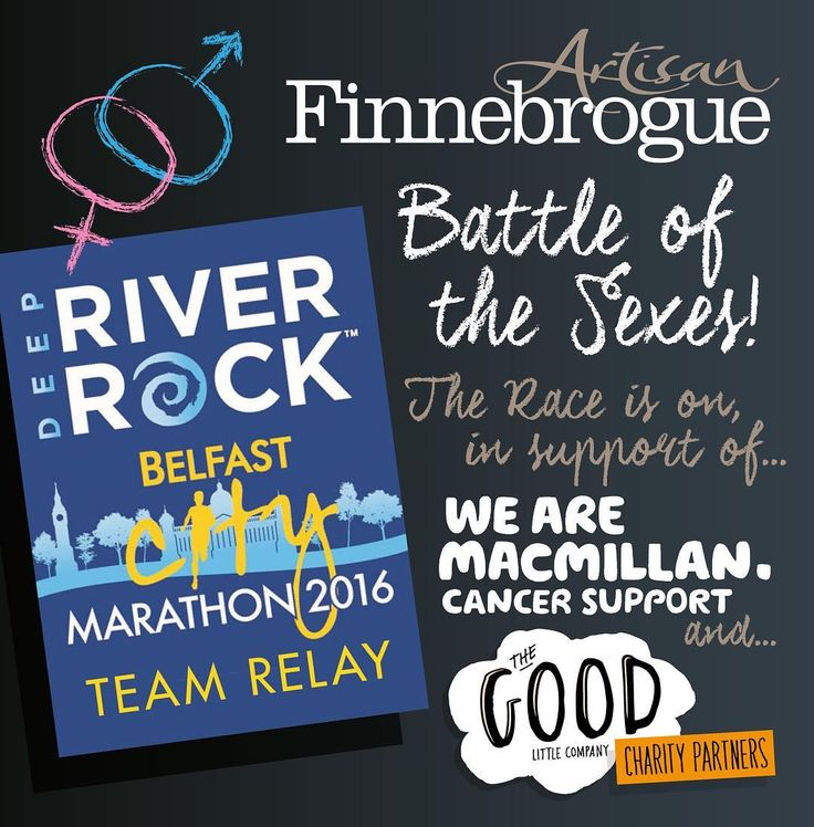 This Bank holiday Monday the Finnebrogue Artisan men will take on the Good Little Company women in a 'Battle of the Sexes' race as part of the Belfast City Marathon! For more information or to support the men please visit http://ift.tt/1T36V3s #Finnebrogue #goodlittlecompany #Belfast #City #marathon #macmillan #cancer #charity #africa #battleofthesexes #girls #verus #boys #sponsorship #justgiving by finnebrogue_artisan