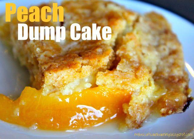 Peach Dump Cake My Granny Used To Make This Soooooo Much