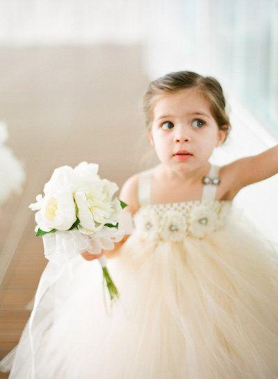 tulle wearing flower girl