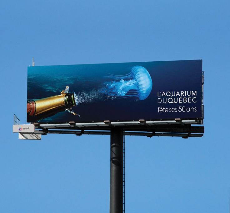 Superboard / Super Panneau - Aquarium de Québec #Publicite #Advertising #Billboard #Ads #Billboard #OutdoorAdvertising #AffichageExterieur #AstralOutOfHome #AstralAffichage #Quebec