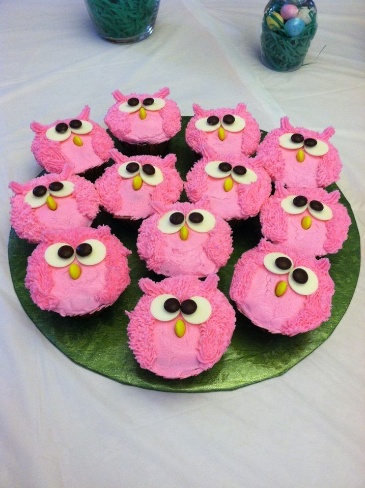 decorated cupcakes cupcake cakes baby shower owls cupcake baby showers